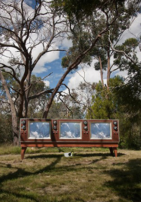 """A moment of media-tation""  (McClelland Gallery & Sculpture Park, Vic )"