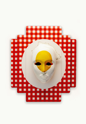 """MASKS FOR THE MODERN TRIBE (BREAKFAST CLUB egg on face)"""