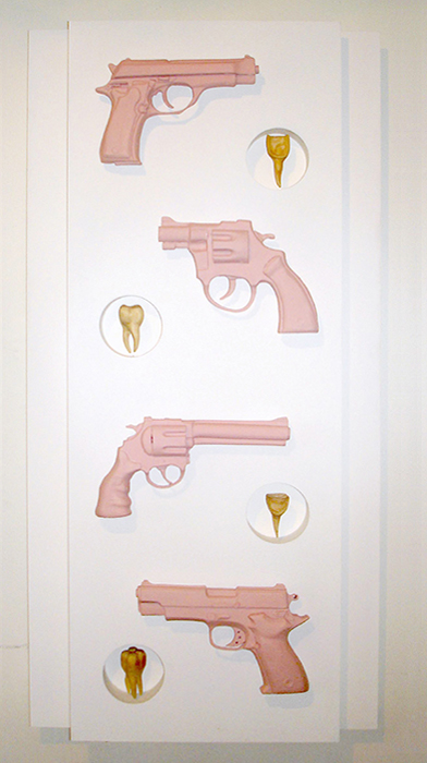 """WEAPONS OF MASS PRODUCTION (flesh guns mit teeth)"""